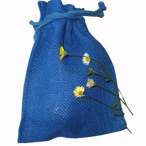 Jute Drawstring Cosmetic/Gift Bag