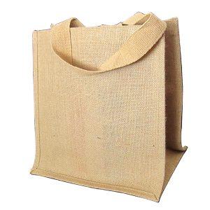 Natural Silver Jute Bag