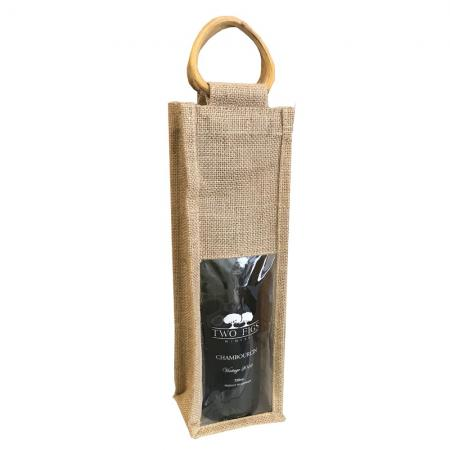 SSB0037 Jute Wine Bottle Bag